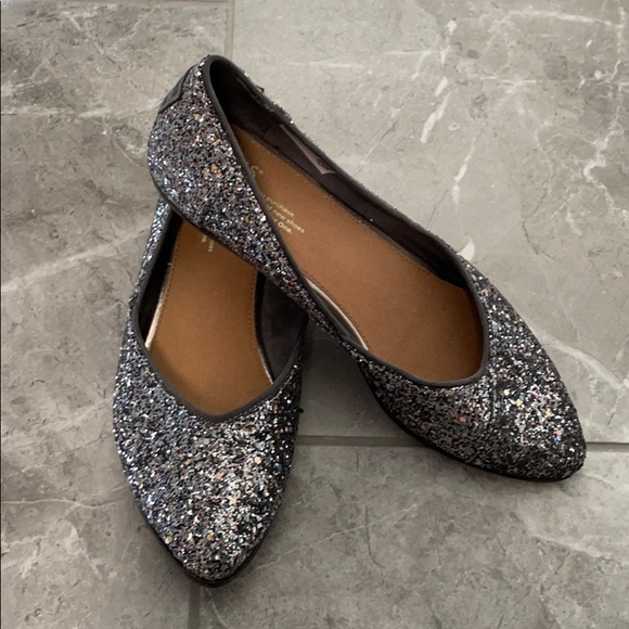 Toms Shoes | Toms Jutti Pewter Glitter